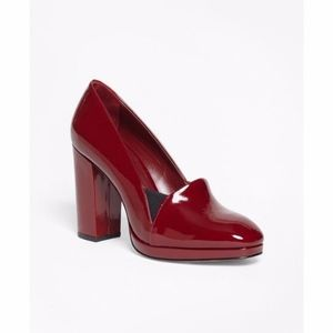 Brook Brothers Red Stacked Patent Leather Heel